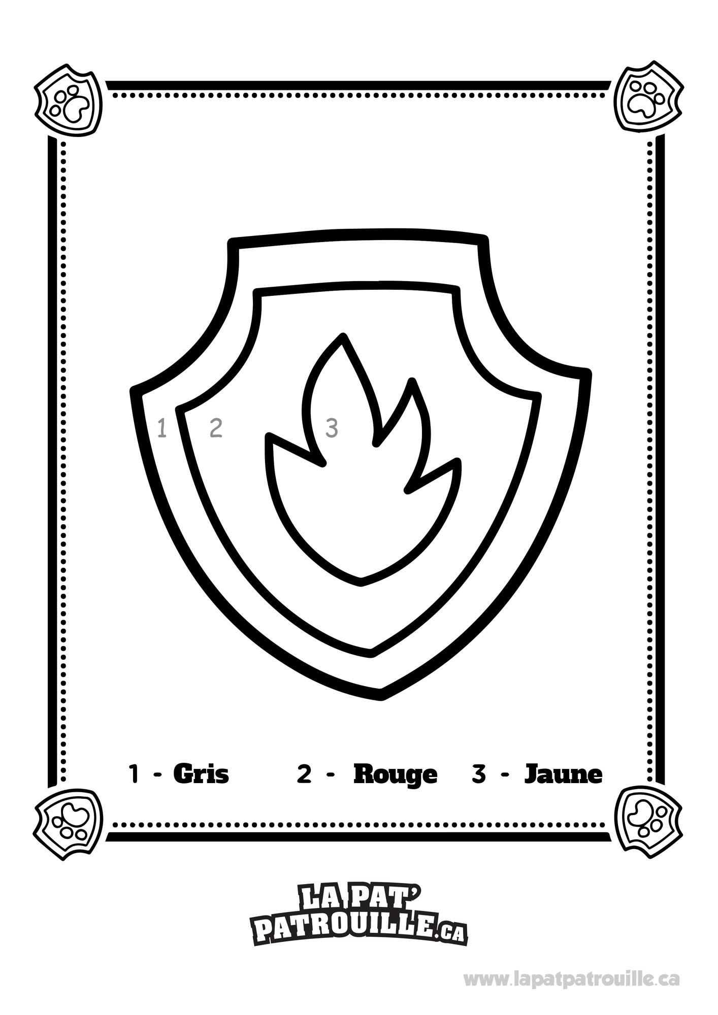 Coloriage Pat Patrouille Badge.Coloriage De Pat Patrouille La Badge A Marcus La Pat Patrouille